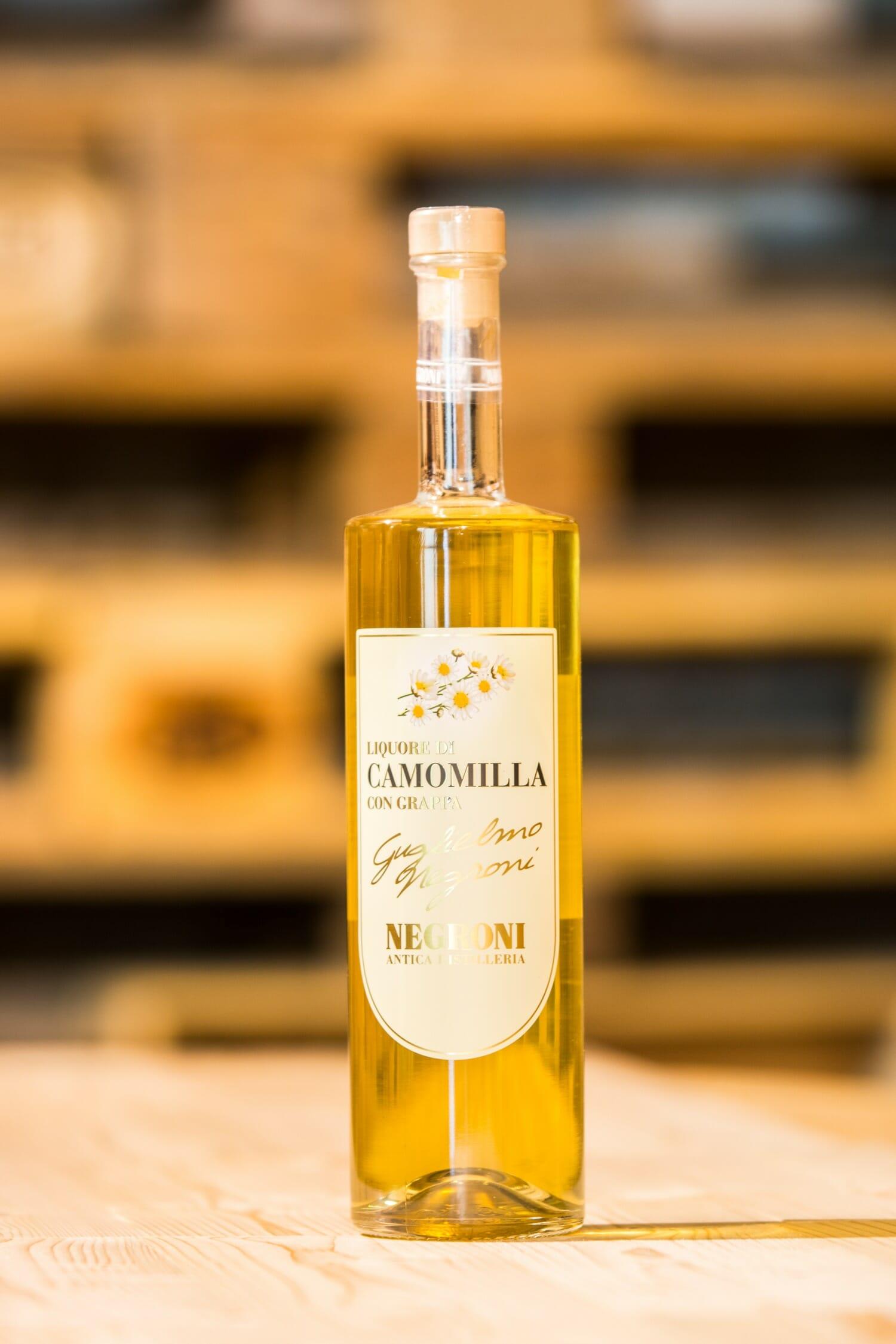 Negroni Liquore Camomilla con Grappa